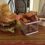 Delicious Beer braised brisket burger