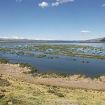 View from room of reeds in Lake Titicaca