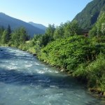 River in front of the Pension Edelweiss