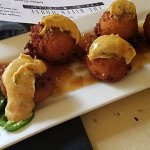 Corn Fritters with Onion and Jalapeno Marmalade