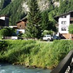 Bridge Across River To Go To Village Right In Front Of Pension Edelweiss