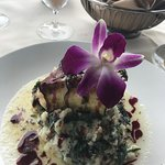 Chilean Sea Bass with Spinach Mashed Potatoes