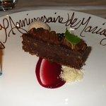 Anniversary Chocolate dessert