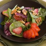 Strawberry Heirloom Spinach Salad