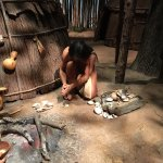 Life size Pequot village. Teachers- Be aware- the women in the village are bare chested.