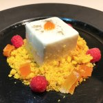 Cheesecake mousse, sable bretone e composta al pompelmo