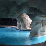 Swim thru cave area