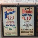 Cozy Inn menu