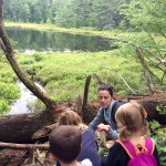 Bog hike with Ranger Julia. Learning about beavers, glaciers, plants and bogs.