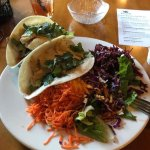 Grilled Halibut Fish Taco with RC Salad