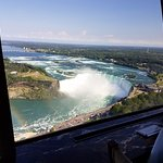 View as the restaurant rotates past the Horseshoe Falls.