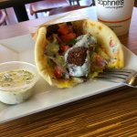 I admit it. I saw a picture of this pita before I entered the building and ordered one. Deliciou