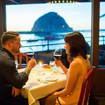 Views of Morro Bay and Morro Rock from every table