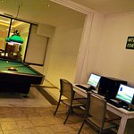 Free  pool table & Internet Corner