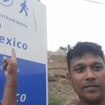 Foot path to Mexico