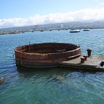 View from inside the USS Arizona Memorial