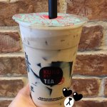 Thanks BroS :) My large coffee milk tea $4.50 w/herbal jelly (grass jelly) extra $0.50
