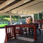 Quaint patio seating.