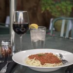 Bolognese Pasta on Our Outdoor Patio