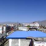 View from the rooftop terrace with Potala Palace