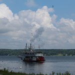 The Chautauqua Belle steaming away from the Chautauqua Institution