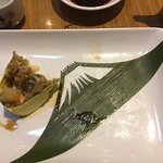 Note the Mt Fuji construction on the plate