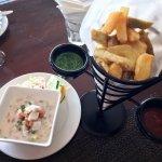 Starters: Kasava & Dalo Chips, Kokoda (chilled Walu marinated with lemon)