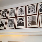 Photos of celebrities who entertained at the Kurhaus. These lovely portraits are in the bar area