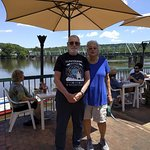 Here we are at the Landing on the Delaware River in New Hope, PA