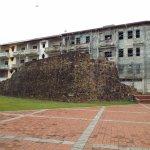Restos de la muralla de Panamá.