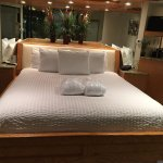 king size bed with robes (short so if you want to walk outside in them, you might need to wear m