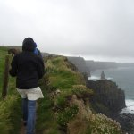 Walking the locals' trail along the Cliffs of Moher with Pat Sweeney as guide!