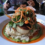 Scallops were cooked perfectly and mushroom risotto was killer