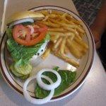 Mushroom Swiss burger.