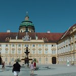 courtyard of Melk Abbey