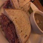 Hugest sandwich on soft rye bread