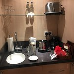 Breakfast bar with fridge, sink and tea/coffee facilities