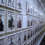 Basement Wall covered with Saturday Evening Post and Post Illustration by Rockwell