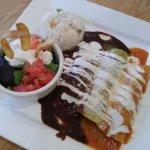 Trio Enchilada and an order of smooth quacamole