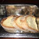 """Fancy"" bread pan/bed pan. And we had to ask for butter!"