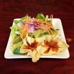 Deep Fried Wontons and Salad