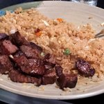 Steak and fried rice