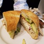 Ranch, Roasted Chicken, Bacon, Avocado on great roll!