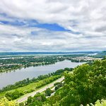 Hwy 61 (the Great River Road) seen from Garvin Heights in Winona.