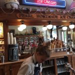 the soda fountain at the Pearl Ice Cream Parlor
