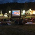 Free outdoor movies on the lawn every Friday night during the summer.