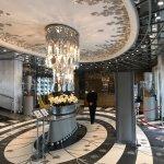 Lobby of the Wyndham Grand Istanbul Kalamis Marina Hotel.