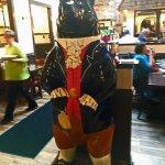 One of New Bern's bear statues inside Morgan's Tavern