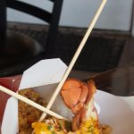 Angry shrimp and lobster fried rice