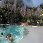 Small slide between pools